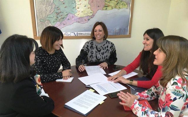 Navarro y Sarabia en reunión con la Asociación de Altas Capacidades
