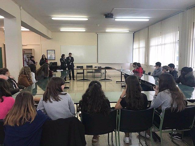 Visita del personal inspector francés al IES Benjamín de Tudela