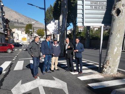Diputación finaliza los trabajos de urbanización en la Avenida de Andalucía de Vélez Rubio
