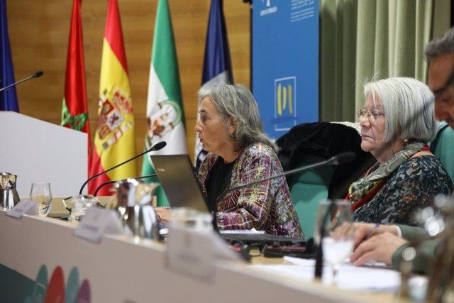 La consejera del CAA Carmen Morillo, en Málaga