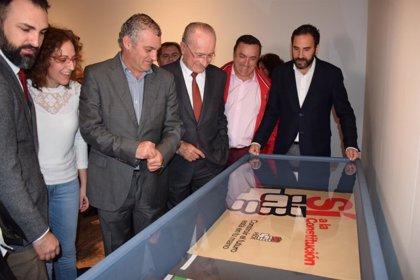 """CCOO presenta en Málaga una muestra de carteles """"el cambio de la etapa gris a la de la conquista de derechos"""""""