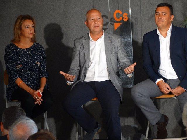 Torres, Imbroda y Hernández White Ciudadanos Cs málaga elecciones candidatos