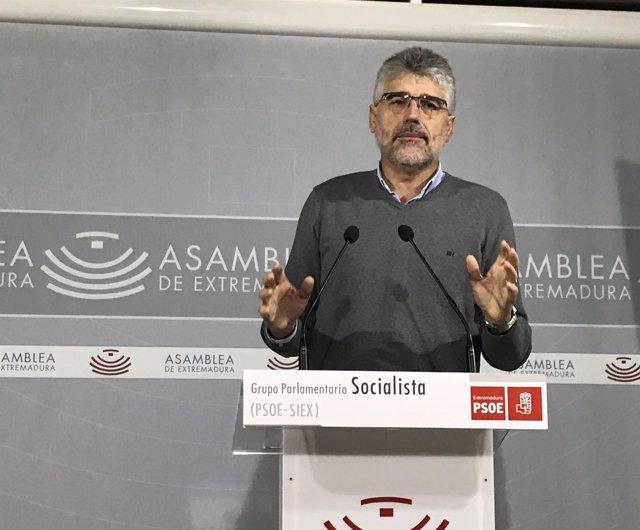 El portavoz del PSOE en la Asamblea, Valentín García