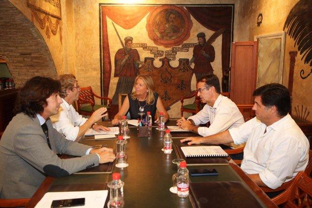 Alcaldesa de marbella palacio dejusticia reunión