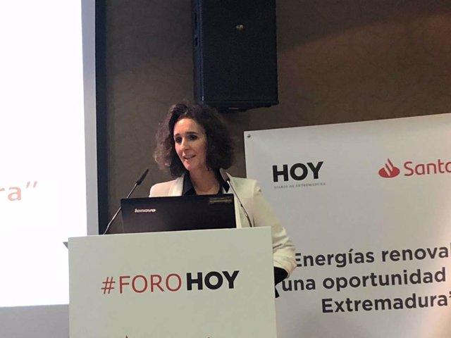 Olga García, consejera de Economía