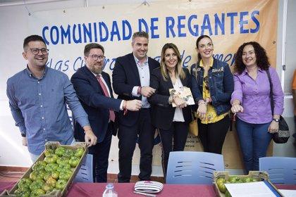 La JEC concluye que Susana Díaz vulneró la ley electoral en un acto con regantes en Almería