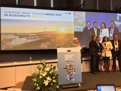 Málaga capital recibe el premio de Turismo Inteligente en Accesibilidad de la Comisión Europea