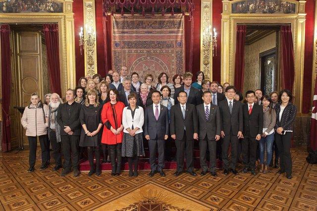 Autoridades y personas residentes en Navarra y vinculadas con Japón
