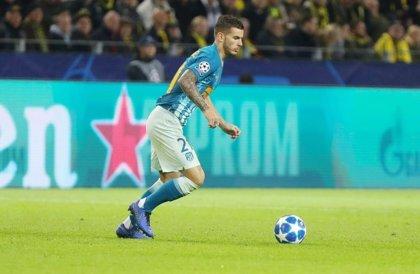 Lucas se une al parte de bajas en defensa del Atlético
