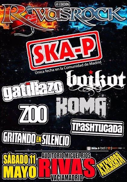 Ska-P, Boikot y Gatillazo, en la sexta edición del festival Rivas Rock