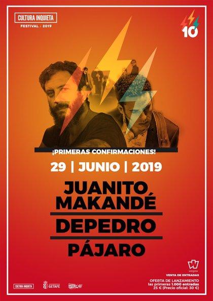 El Festival Cultura Inquieta 2019 anuncia a Juanito Makandé, Depedro y Pájaro