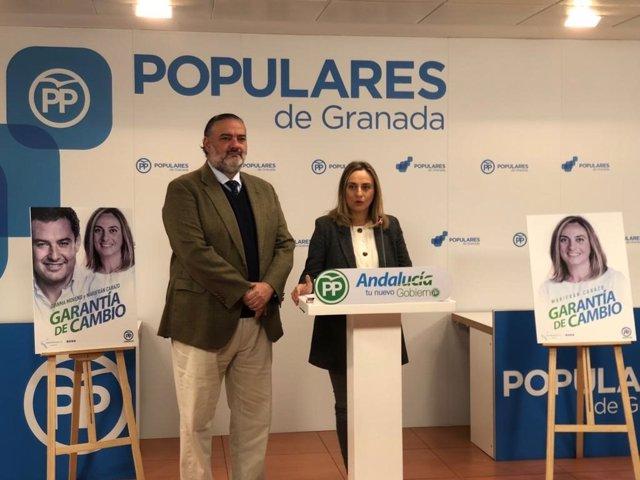 Pablo García y Marifrán Carazo informan sobre la campaña del PP