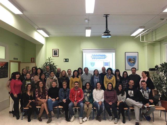 Participantes en el programa internacional Eramus +