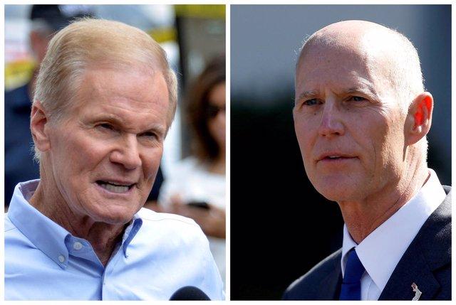 Bill Nelsony Rick Scott compiten por el escaño de Florida en el Senado