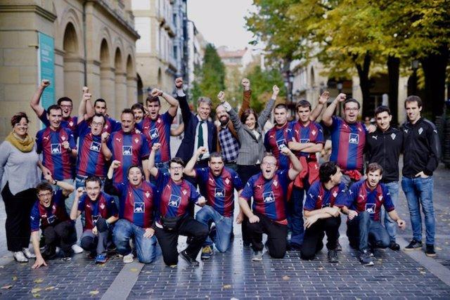 Diputación y SD Eibar ponen en marcha equipos de fútbol para personas con discapacidad intelectual y parálisis cerebral