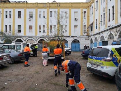 Dispositivo integral de seguridad, limpieza y control de actividades irregulares en el Edificio Pinillos de Sevilla