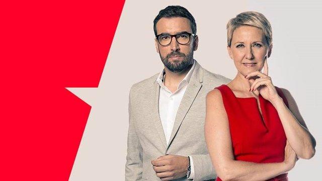 Los periodistas de Telemadrid Inmaculada Galván y Ricardo Altable