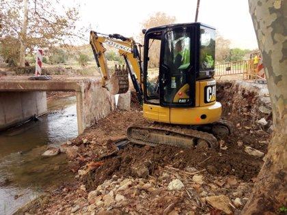 Empiezan las obras de restauración del dominio público hidráulico afectado por las inundaciones del Llevant