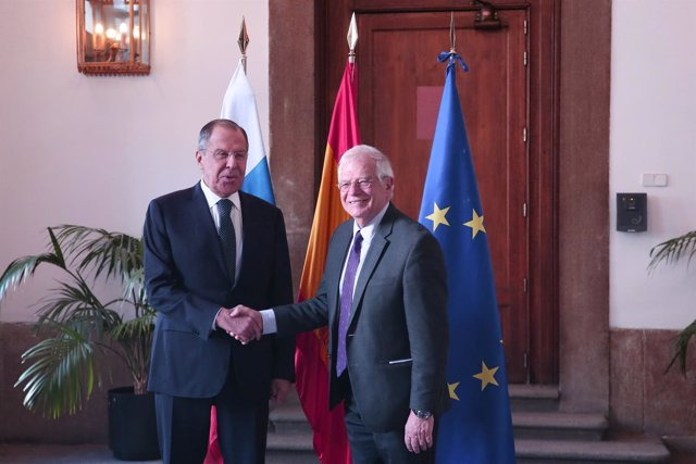 Reunión de Josep Borrell con el ministro de Asuntos Exteriores de Rusia, Sergei