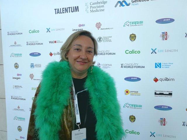 Ángela Nieto en el Longevity World Forum