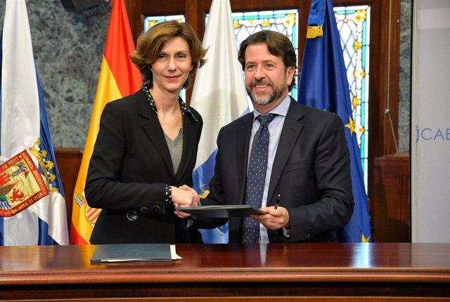 Isabel María Oliver y Carlos Alonso