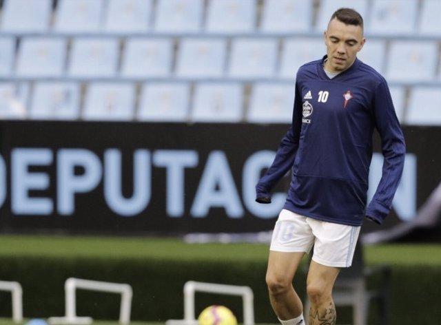 El delantero del RC Celta Iago Aspas