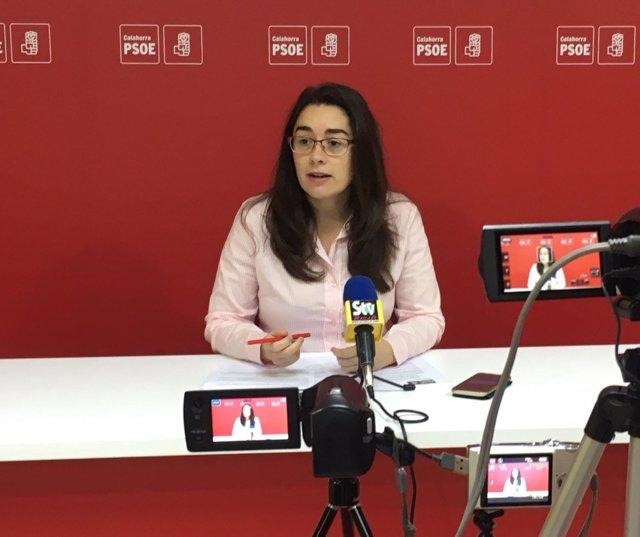 Elisa Garrido, portavoz PSOE en Calahorra