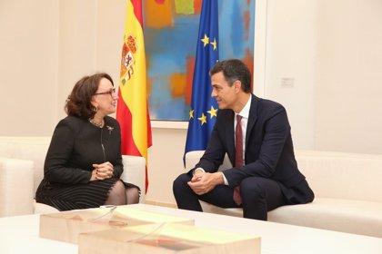 """Sánchez traslada a Grynspan el """"firme compromiso"""" de España con la comunidad iberoamericana"""