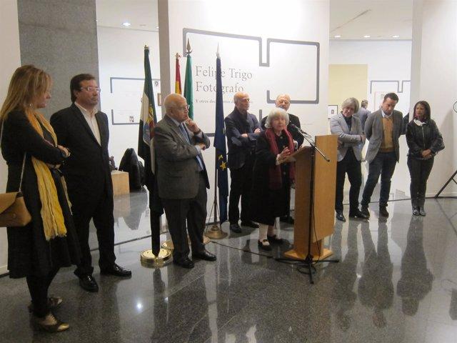 Inauguración exposición sobre Felipe Trigo en Badajoz