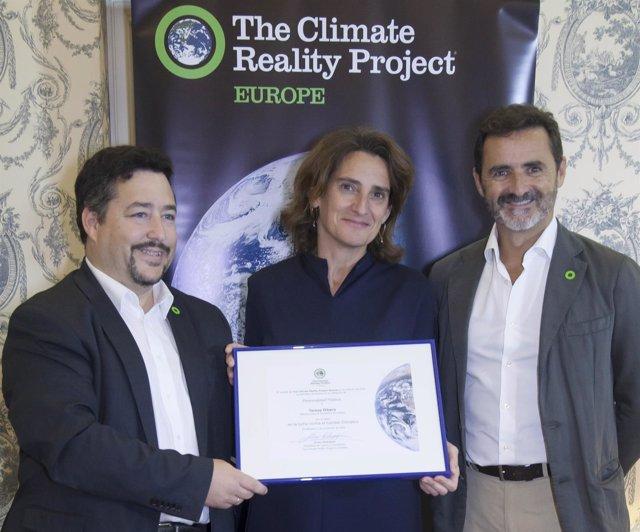 The Climate Reality Project premia a la ministra Teresa Ribera