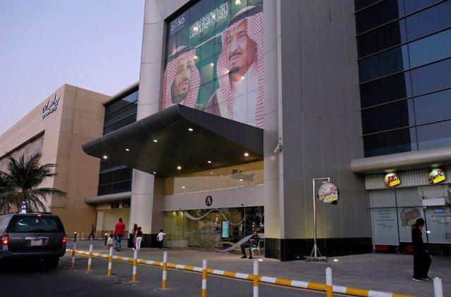 Imagen del rey Salman de Arabia Saudí y del príncipe heredero