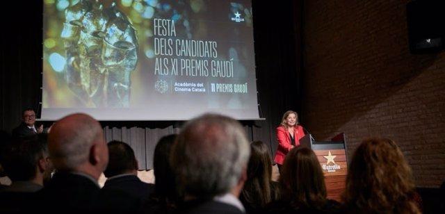 La pta.I.Passola en la fiesta de candidatos de los XI Premis Gaudí