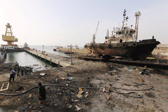 Ataque contra el puerto yemení de Hodeida