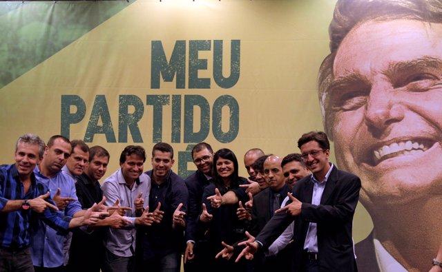 Legisladores electos del PSL de Jair Bolsonaro