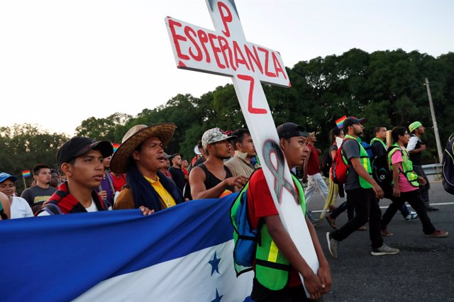 Caravana de migrantes centroamericanos rumbo a Estados Unidos