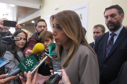 """Susana Díaz, que comparece hoy en el Senado por los ERE, lo achaca a un """"desahogo"""" del PP """"en su desesperación"""""""