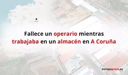 Fallece un operario en Arzúa (A Coruña) al quedar atrapado bajo la carretilla elevadora que reparaba