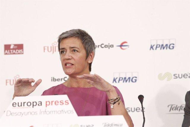 Desayuno Informativo de Europa Press con Margrethe Vestager, Comisaria Europea d