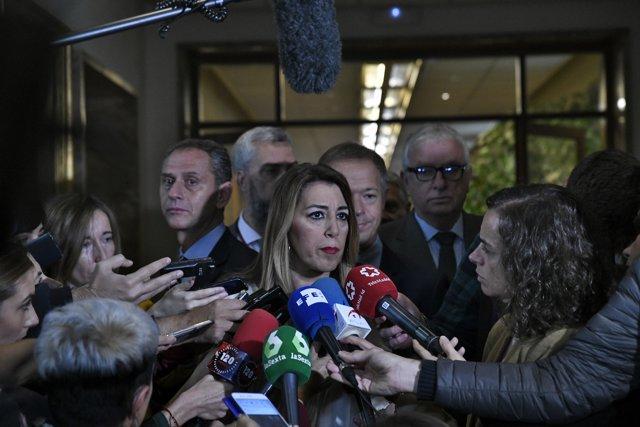 En Sevilla, la presidenta de la Junta de Andalucía, Susana Díaz, participa en la