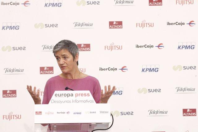 Esmorzar Informatiu d'Europa Press amb Margrethe Vestager