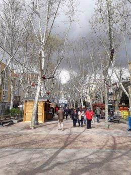 El bulevar Peña Gorbea en Puente de Vallecas