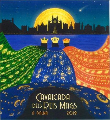 'S'Arribada', el cartel que ilustrará la Cabalgata de Reyes Magos 2019