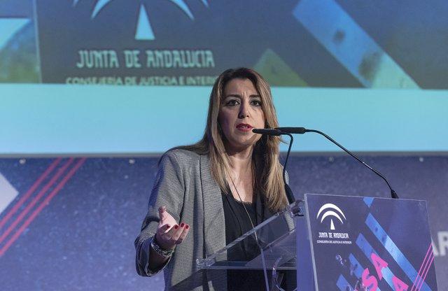 A Sevilla, la presidenta de la Junta d'Andalusia, Susana Díaz