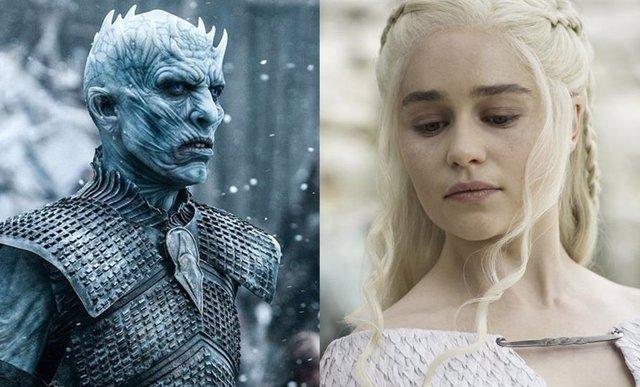 Daenerys y el Rey de la noche de Juego de tronos