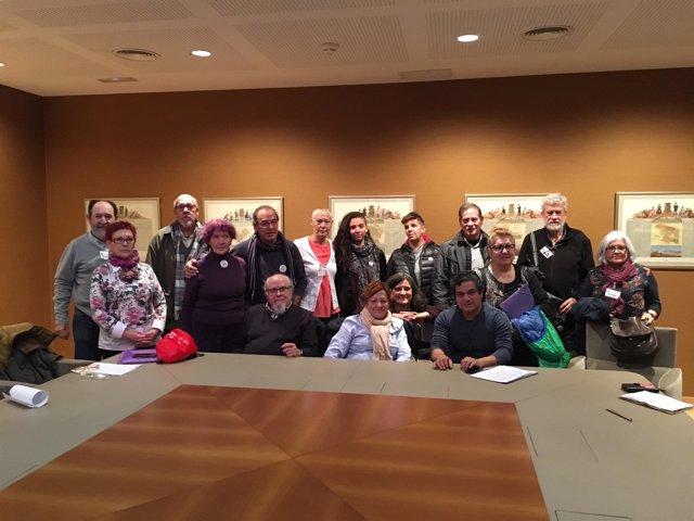 Valladolid.- Miembros de la Coordinadora de pensionistas de CyL