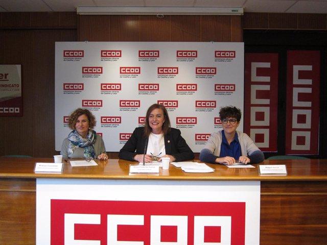 Rueda de prensa de CCOO sobre bilingüismo
