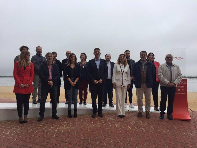 Lista del PSOE de Huelva para las elecciones del 2 de diciembre.