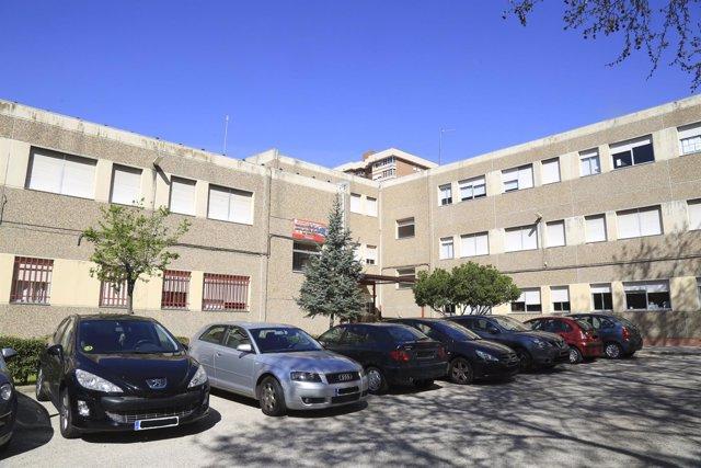 Colegio Luis de Góngora de Leganés afectado por el amianto