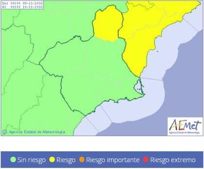 Meteorología activa el aviso amarillo por vientos en la comarca del Altiplano
