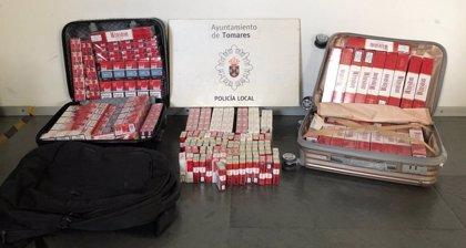Requisadas 528 cajetillas de tabaco de contrabando en Tomares (Sevilla)